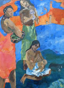 Painting of three women and a baby