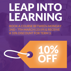 Leap into Learning banner - 10% off Sale for Term 3